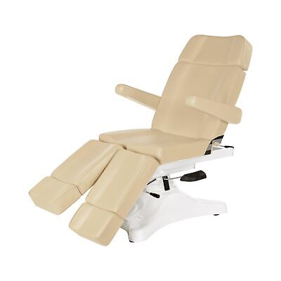 Pedicure Chair Electric Beauty Massage Therapy Spa Bed New Beige Treatment Table