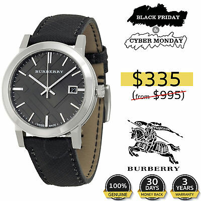 Burberry Watch Women Men Unisex Heritage Collection Authentic Leather BU1380