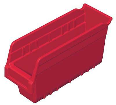 "Red Shelf Bin, 11-5/8""L x 4-1/8""W x 6""H AKRO-MILS 30040RED"