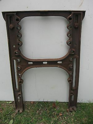 Antique Industrial cast iron simanco singer sewing machine co stands
