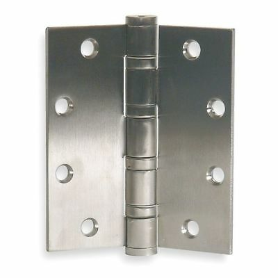 """ZORO SELECT 4PA49 4-1/2""""W x 4-1/2""""H Stainless Steel Door and Butt Hinge"""
