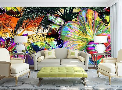 Colorful Butterflies  Wall Mural Photo Wallpaper GIANT WALL DECOR Paper Poster