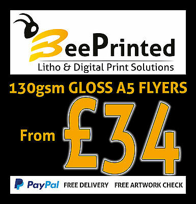 A5 Flyers / Leaflets Printed Full Colur On 130gsm Gloss. Quantity 1000 - 20000