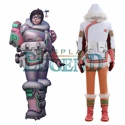 Custom Made Overwatch Role Mei Cosplay Costume Women Outfit Pink Version