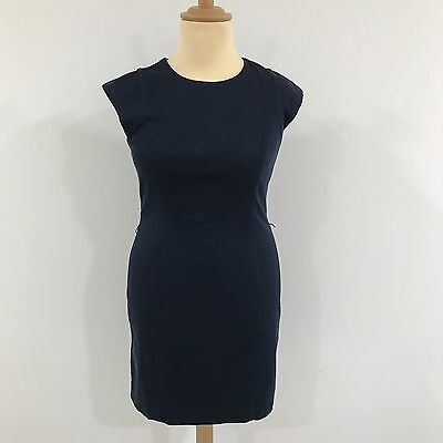 french connection navy dress womens sleeveless cotton long. Black Bedroom Furniture Sets. Home Design Ideas