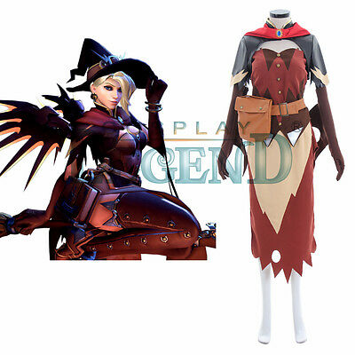 Mercy Cosplay Costume (Witch) from Overwatch Custom Made