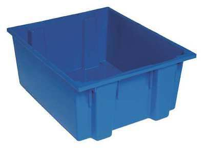 Nest and Stack Container, 23-1/2 in, Blue QUANTUM STORAGE SYSTEMS SNT225BL
