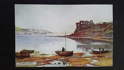 Cpsm Oilette Picturesque Dorset Sandsfoot Castle & Portland Heymouth By W.busk