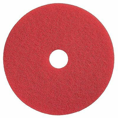 TOUGH GUY 4RY18 Buffing and Cleaning Pad, 15 In, Red, PK 5