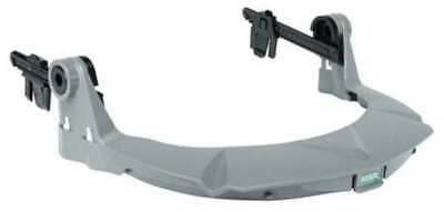 Faceshield Frame,Slotted Cap,Plastic,Gry MSA 10121267