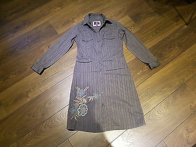 FAT FACE grey shirt dress with long sleeves Size 8