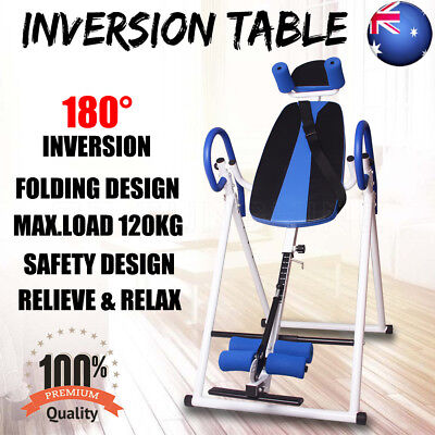 2017 180° Inversion Table Gravity Folding Upside Down Relieve Back Pain Home Gym