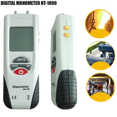 New Manometer Digital Air Pressure Meter Pressure Gauge HVAC Gas Pressure Tester