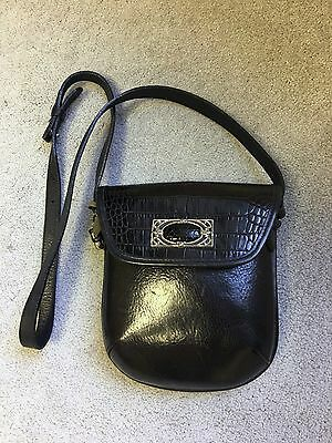 BRIGHTON Crossbody Leather Bag Black Purse Shoulder Bag Mini Cross Body