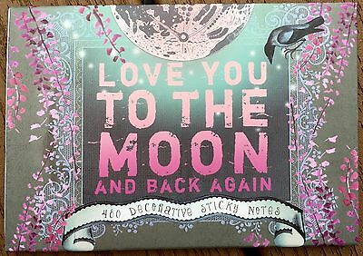 Papaya Art Love You To The Moon and Back Again 480 Sticky Notes Post it Set
