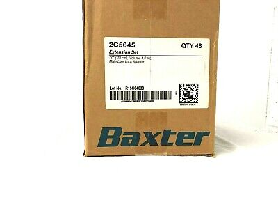 "Baxter 30"" Extension Set, 4mL, Male Luer Lock Adapter, REF: 2C5645"