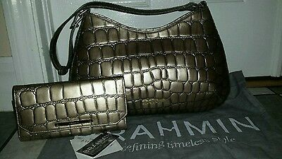 NWT Brahmin Genuine Leather Cayson Shoulder Bag Purse & wallet