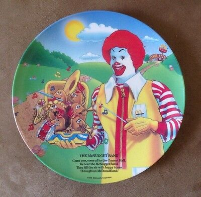 "McDonald's Plate ""The McNugget Band"" Ronald McDonald 1989"