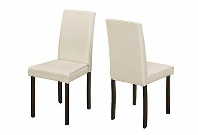 """Monarch I 1174 Dining Chair - 2Pcs / 36""""H Ivory Leather-Look"""