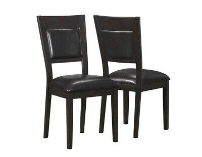 """Monarch I 1495 Dining Chair - 2Pcs / 39""""H / Cappuccino / Brown Seat"""