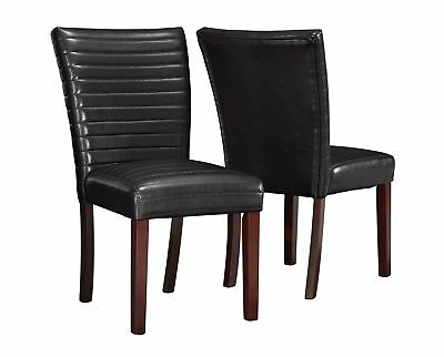 """Monarch I 1967 Dining Chair - 2Pcs / 38""""H / Dark Brown Leather-Look"""