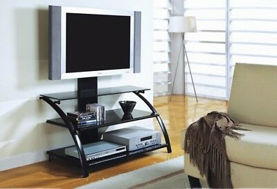"""Monarch I 2046 Tv Stand - 42""""L / Black / Tempered Glass With A Bracket"""