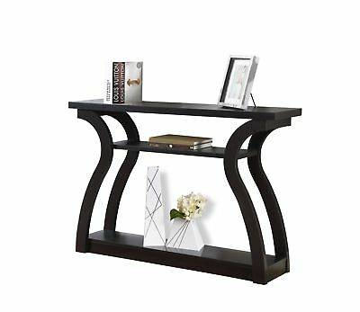 "Monarch I 2445 Accent Table - 47""L / Cappuccino Hall Console"