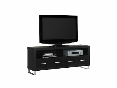 """Monarch I 2516 Tv Stand - 60""""L / Cappuccino With 4 Drawers"""