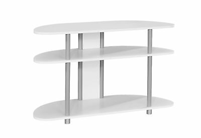 """Monarch I 2522 Tv Stand - 38""""L / White With Silver Accent"""