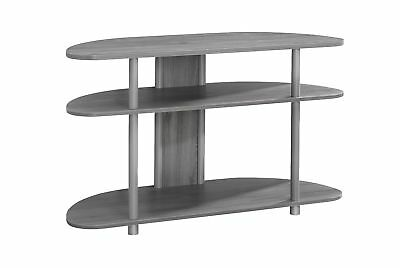 """Monarch I 2521 Tv Stand - 38""""L / Grey With Silver Accent"""