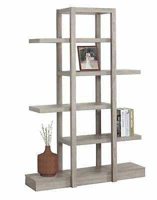 "Monarch I 2539 Bookcase - 71""H / Dark Taupe Open Concept Display Etagere"