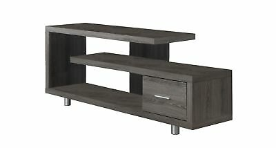 """Monarch I 2574 Tv Stand - 60""""L / Dark Taupe With 1 Drawer"""