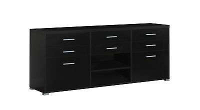 """Monarch I 2585 Tv Stand - 60""""L / Cappuccino With 8 Drawers"""