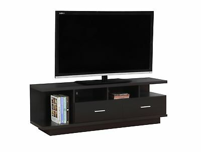 """Monarch I 2674 Tv Stand - 60""""L / Cappuccino With 2 Drawers"""
