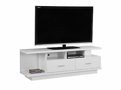 """Monarch I 2676 Tv Stand - 60""""L / White With 2 Drawers"""