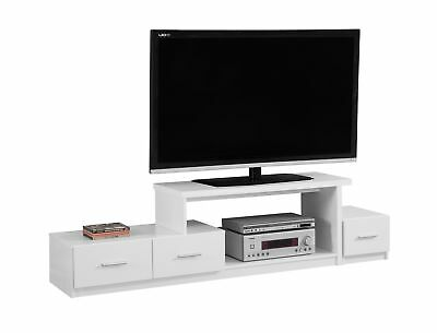 """Monarch I 2672 Tv Stand - 72""""L / White With 3 Drawers"""