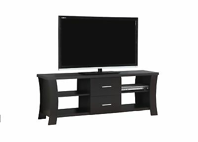 """Monarch I 2683 Tv Stand - 60""""L / Cappuccino With 2 Drawers"""