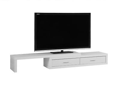 """Monarch I 2680 Tv Stand - 60""""L To 98""""L / Expandable / White"""