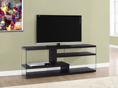 """Monarch I 2692 Tv Stand - 60""""L / Cappuccino With Tempered Glass"""