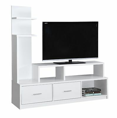 """Monarch I 2697 Tv Stand - 60""""L / White With A Display Tower"""