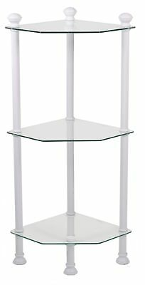"Monarch I 3424 Bathroom Accent - 33""H / White Metal With Tempered Glass"