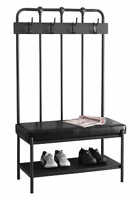 """Monarch I 4545 Bench - 60""""H / Charcoal Grey Metal Hall Entry"""