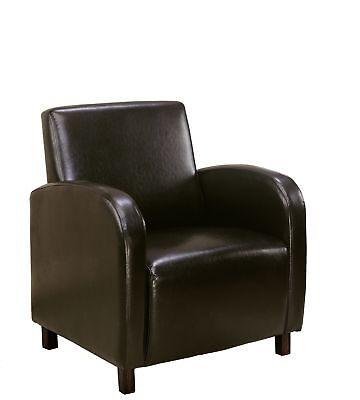 Monarch I 8050 Accent Chair - Dark Brown Leather-Look Fabric