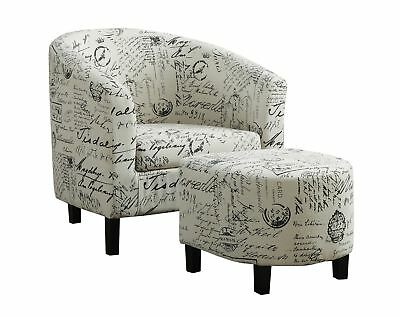 Monarch I 8058 Accent Chair - 2Pcs Set / Vintage French Fabric