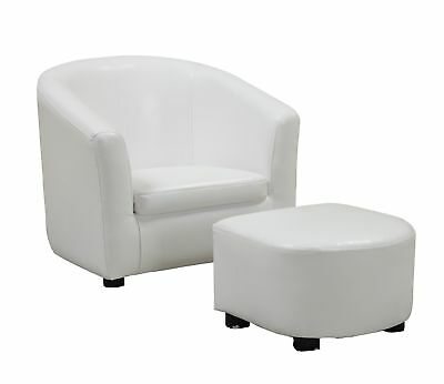 Monarch I 8104 Juvenile Chair - 2 Pcs Set / White Leather-Look Fabric