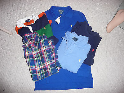 Ralph Lauren-Tops Lot Of 5 Shirts,  Polos, Rugby Size 14-16