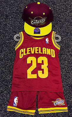 newest collection 702c7 858b3 KIDS BABY NBA Basketball Jersey Top Short Set Cleveland Cavalier#23 James
