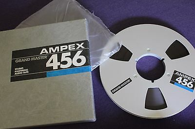 Ampex Grand Master 456 metal reel and tape, 10 inch with original box and sleeve