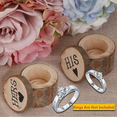 Novelty Wood Vintage Chic Bride Groom Wedding Ring Box Display Box 4 Style