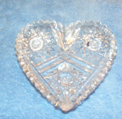 Antique Cut Glass Candy Dish